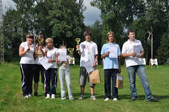 Photo: Laureaci w rywalizacji zespołowej (klubowej). Mistrzostwa Małopolski Dzieci i Młodzików 2011 (Dobczyce, 16.08.2011)