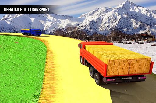 Gold Transporter Truck Driver 2019 : Uphill Driver screenshot 4