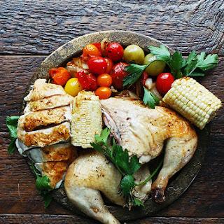 Whole Roast Summer Chicken