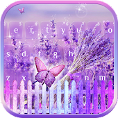 Lilac Lavender Keyboard theme