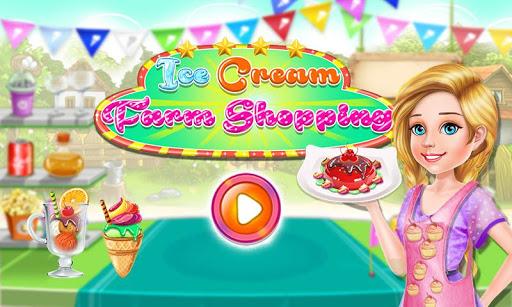 アイスクリームのショッピングゲーム