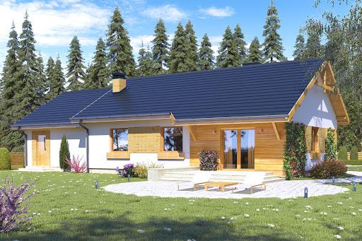 projekt Julek trend z garażem 2-st. A1