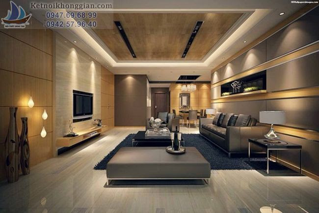 thiết kế nội thất khắp căn phòng
