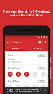 StrongLifts 5x5 Workout Gym Log & Personal Trainer - náhled