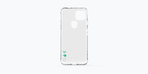 Reverse view of Exterior of the Case-Mate Eco94™ Eco Clear Case for Google Pixel 5a (5G).