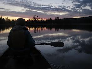 Photo: Dee, night paddle