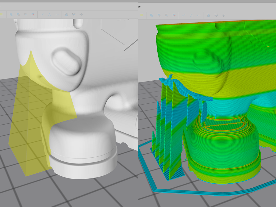 Customizable support gives you full control over just what parts of your 3D model is supported.