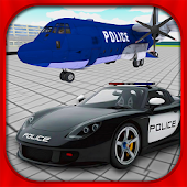 Police Car Airplane Transport