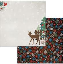 BoBunny Winter Getaway Cardstock 12X12 - Winter Getaway 53569
