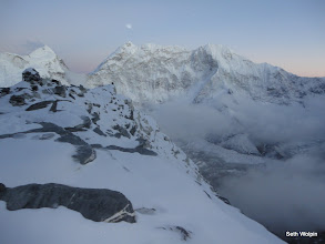 Photo: 13hrs later, back at crampon point, 1.5hrs more to decscend to ABC