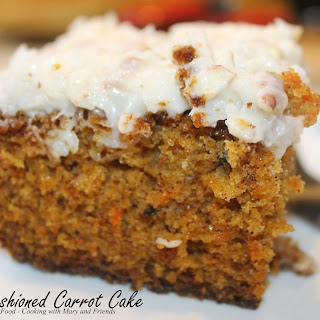 Carrot Cake with Cream Cheese/Pecan Frosting