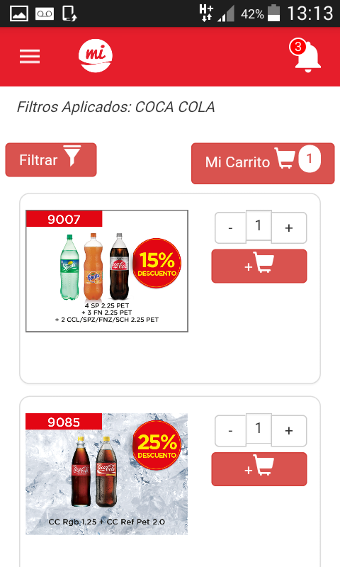 Mi Coca-Cola Andina- screenshot
