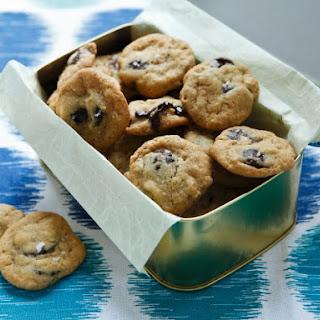 Mini Bittersweet Chocolate Chip Cookies with Maldon Sea Salt