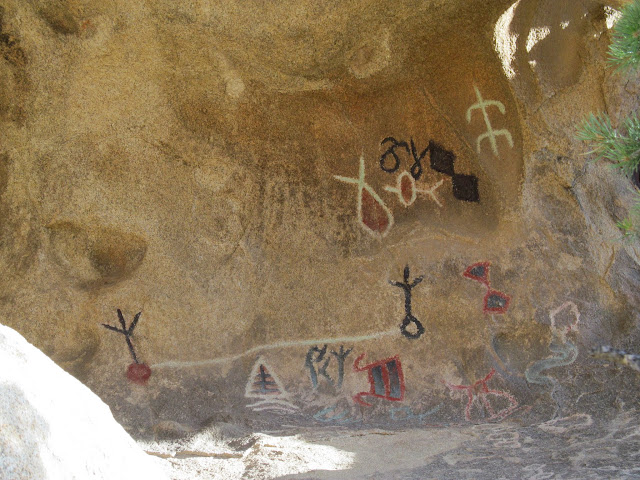 Petroglyphs (painted over in modern times) near Barker Reservoir