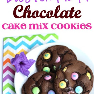 Easter M&M Chocolate Cake Mix Cookies Recipe!