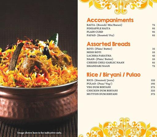 Masala Asia menu 4