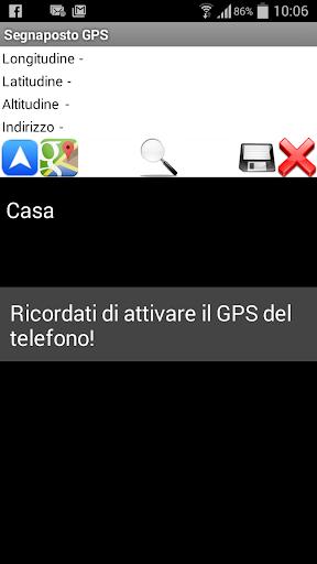 Segnaposto GPS
