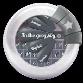 In the grey sky GO Keyboard