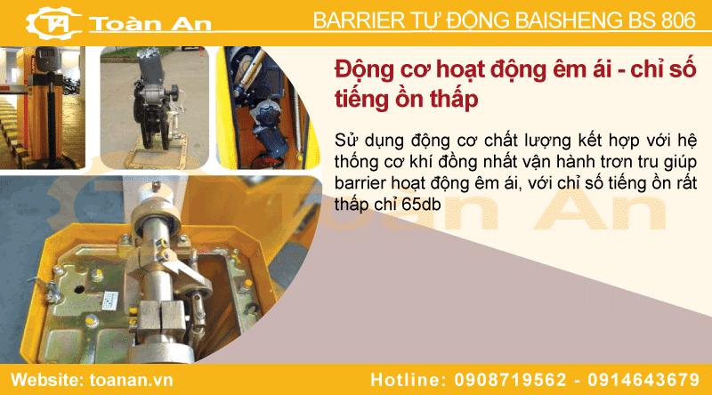 Động cơ và một số cấu tạo cơ khí của cổng barrier tự động baisheng bs 806.