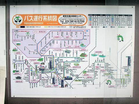 東京都交通局 梅70-1 W-L639_07 青梅車庫バス停 青梅支所路線図