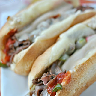 Saucy Cheesesteak Hoagies