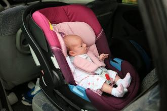Photo: Nouveau siège auto pour toi, tu apprécies de voir dehors.
