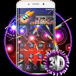 3D Happy 2018 Diwali Glass Theme Icon