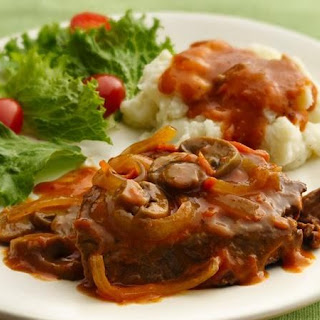 Slow-Cooker Smothered Swiss Steak.