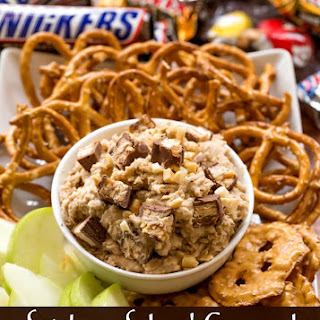 Snickers Salted Caramel Oatmeal Cookie Dough Dip
