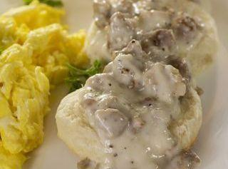 Low-carb Drop Biscuits With Sausage Gravy Recipe