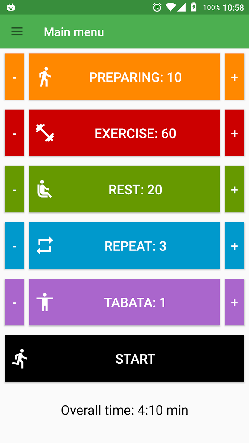 Скриншот Tabata Timer for HIIT