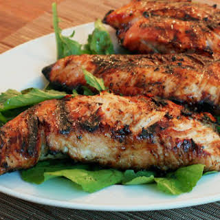 Grilled Turkey Tenderloins With Pepper Jelly Marinade.