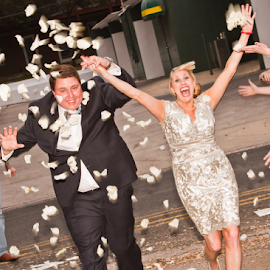 We are outta here! by Matthew Chambers - Wedding Bride & Groom ( bride leaving, matthew chambers photography, bride and groom, bride, groom )