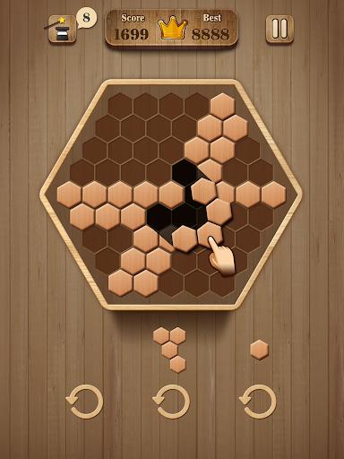 Wooden Hexagon Fit: Hexa Block Puzzle 1.0.1 screenshots 10