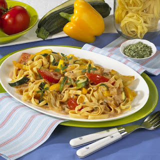 Tagliatelle With Vegetable Sauce.