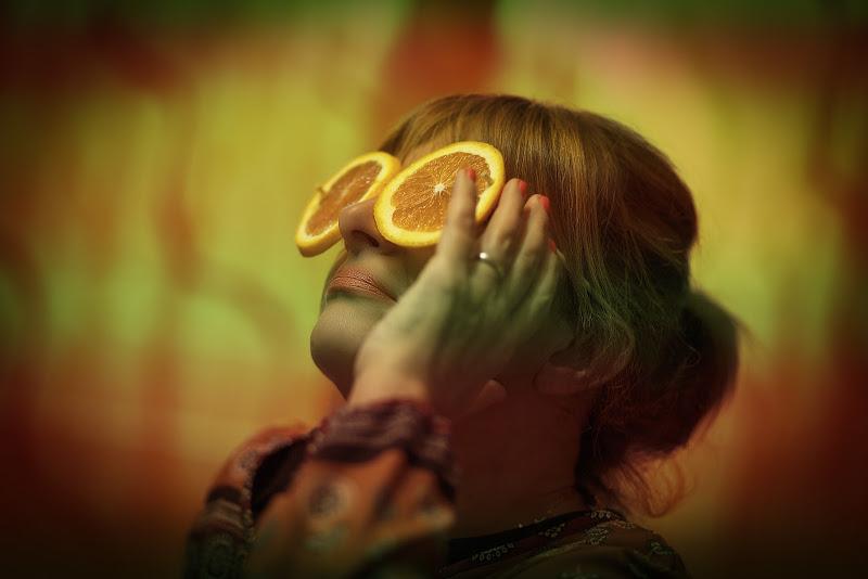 lenti 100 % arancio  di massimo bertozzi