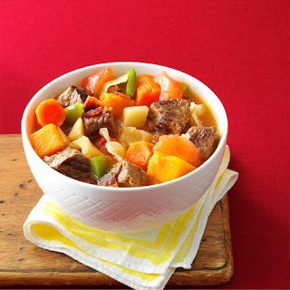Loaded Vegetable Beef Stew.