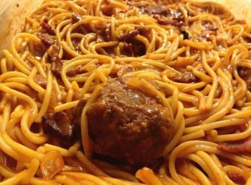 "Recipe Here: Grandma's Spaghetti and Meatballs ""I prepared your recipe Sunday for..."