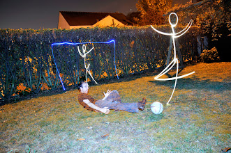 Photo: Light soccer - Light painting by Christopher Hibbert, french photographer and light painter. Further information: http://www.christopher-hibbert.com