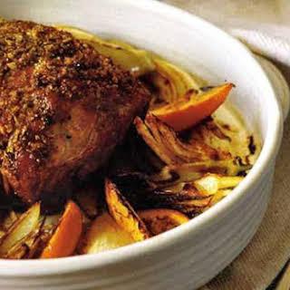 Roasted Pork Shoulder with Fennel and Orange.