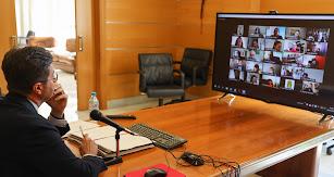 Imagen del pleno por videoconferencia.