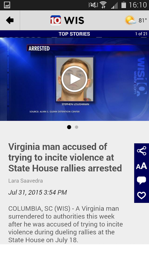 WIS News 10- screenshot