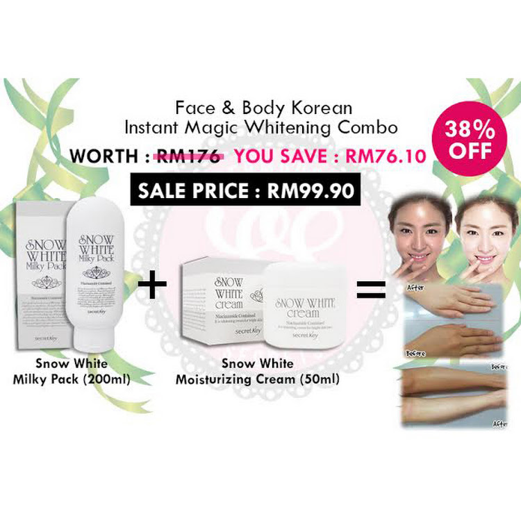 Face & Body Korean Instant Magic Whitening Combo by Supermodels Secrets