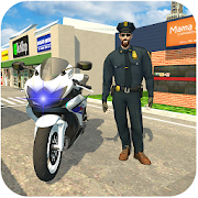 US Police Moto Bike Simulator: Real Gangster Chase