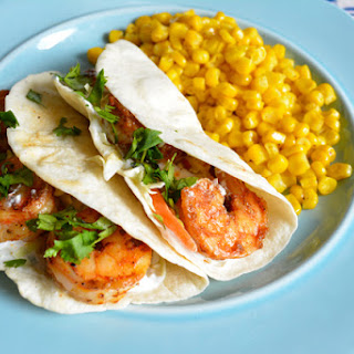 Shrimp Tacos with Cilantro-Lime Cream {emeals recipe}.
