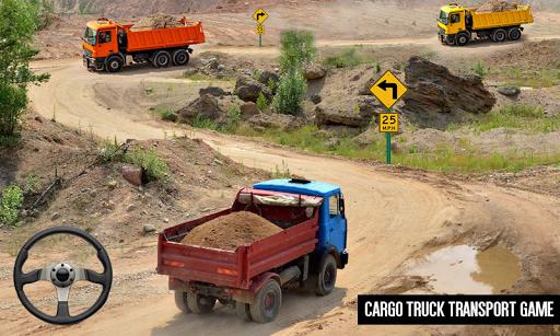 Code Triche Cargo Truck Simulator Conduite en montée APK Mod screenshots 1