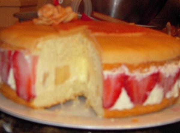 Sliced cake.