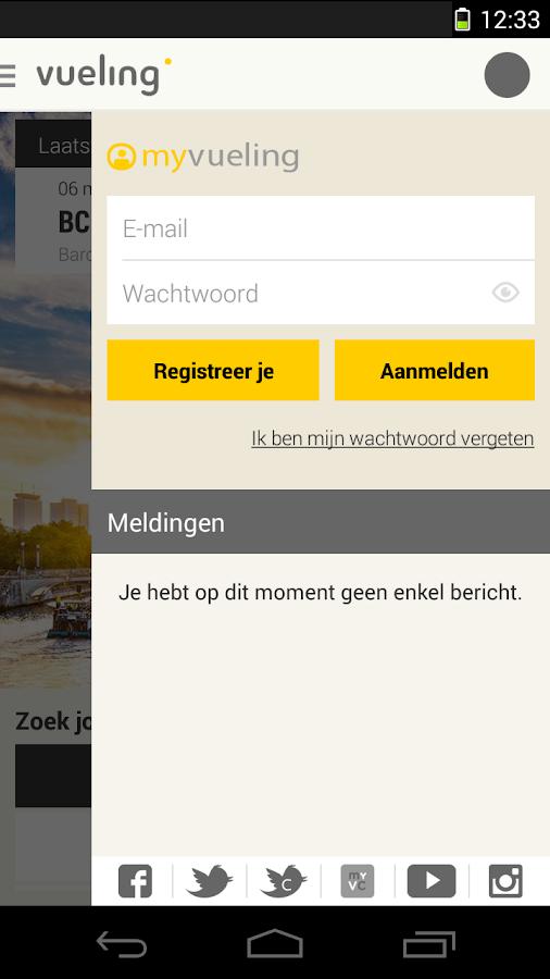 Vueling -Goedkope Vliegtickets - screenshot