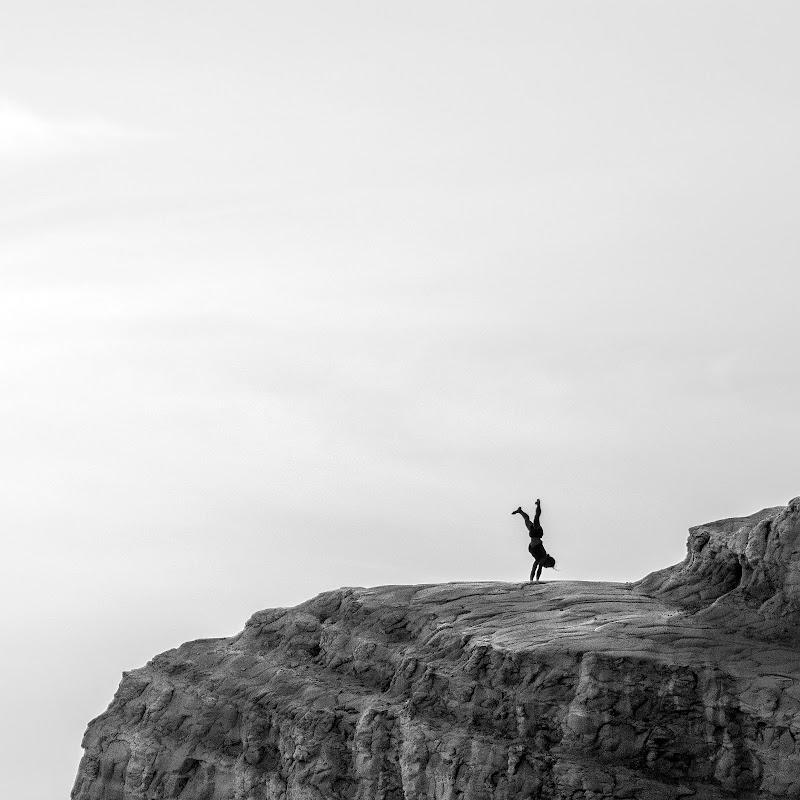 Yoga sulla Scala dei Turchi di carcat