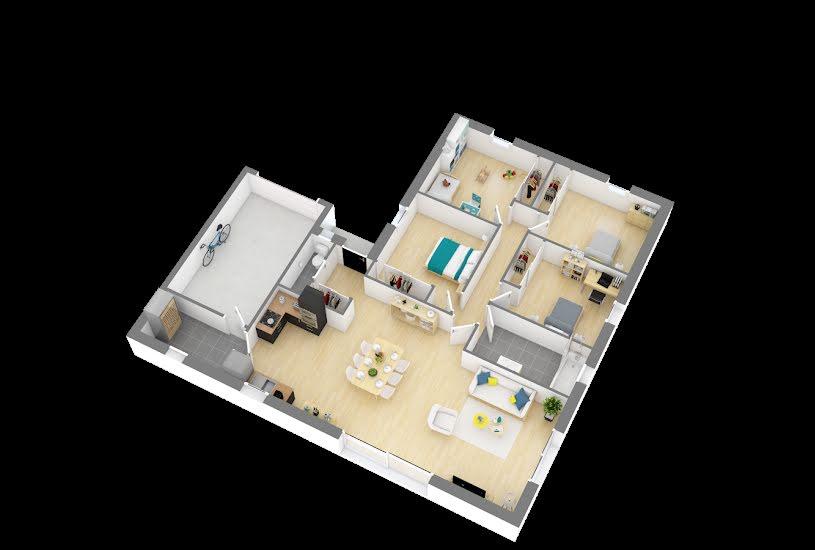 Vente Terrain + Maison - Terrain : 535m² - Maison : 103m² à Chemillé (49120)